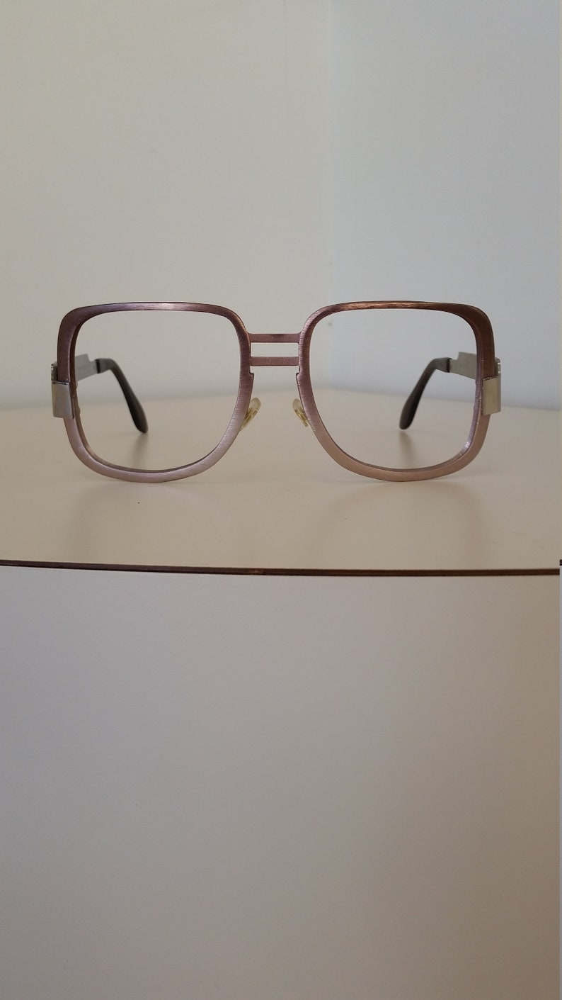 3cb3c8bb67a 1970s Neostyle Eyeglasses Frame Elvis-Style Large Silver