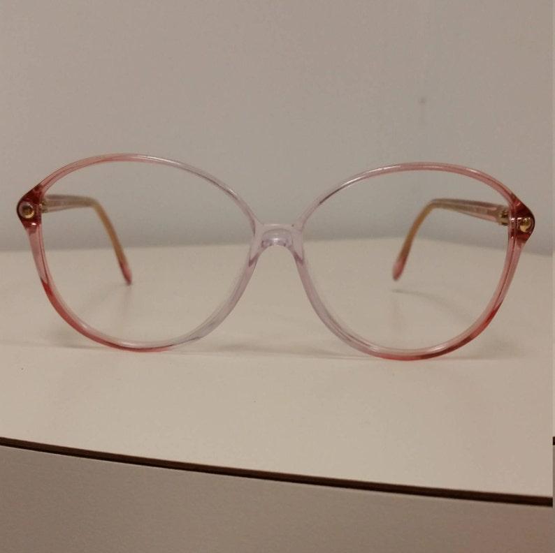 cae1946ec2ed 1980s Silhouette Rose Clear Plastic Eyeglasses Frame
