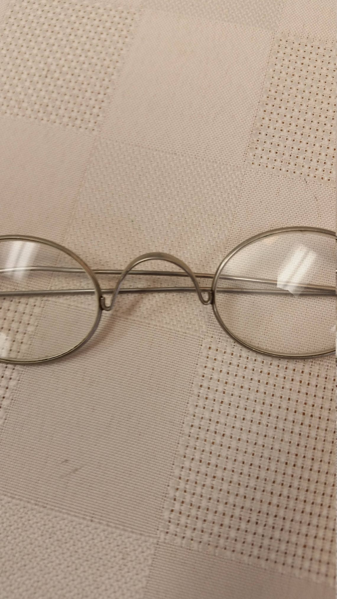 1800s Silver Reading Eyeglasses; + 4.25 Strength; Excellent Antique Condition; Ready to Wear: Great for Reenactors / Living History