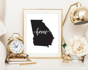Home Print - Georgia | Downloadable Print | Instant Download | Gallery Wall | Printable