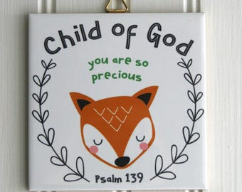 Child Of God Fox Tile Art