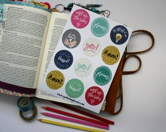 Reward Bible Journaling Stickers, Sunday School, Scrapbooking, Planner Stickers