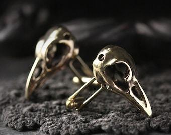 Raven Skull Cufflinks - Original made and designed by Defy / Unique jewelry / Dark style accessories /Special design