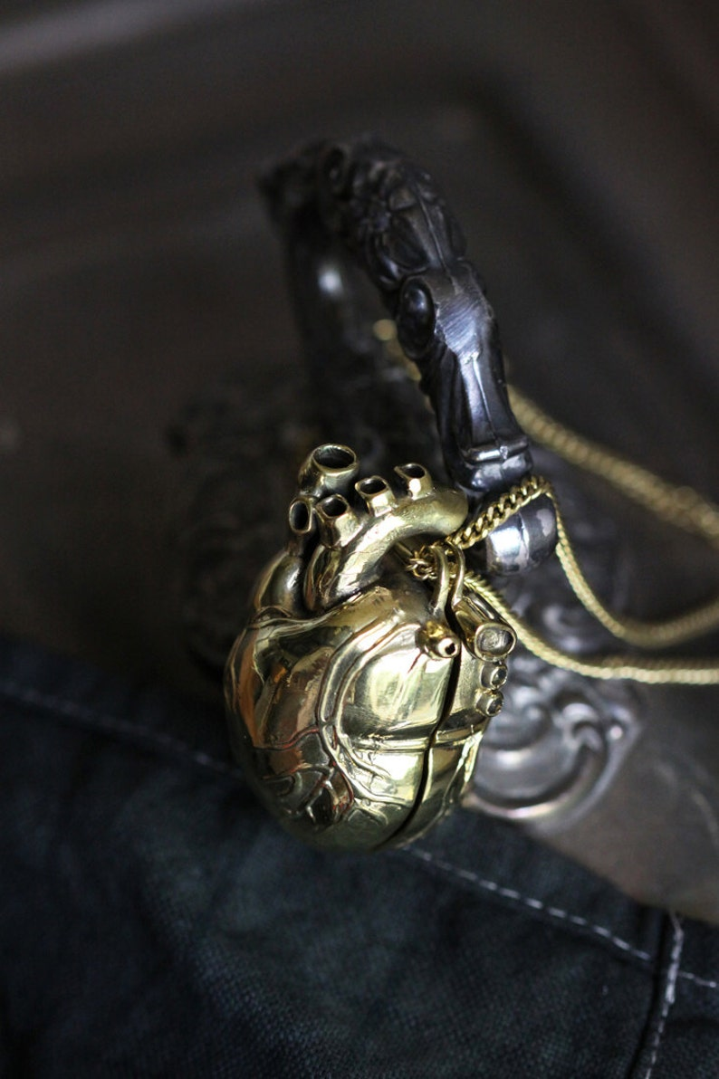 Heart Locket Charm Necklace by DefyAnatomical NecklaceHeart LocketLocket Charm