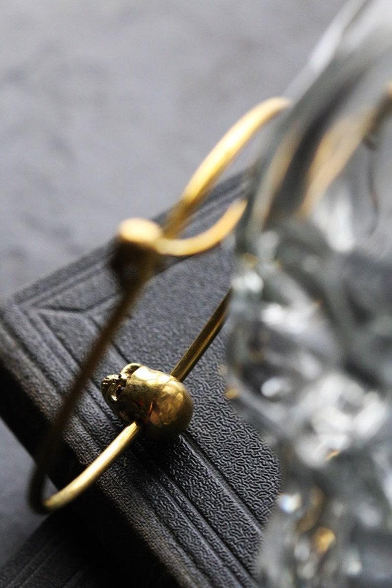The Three Skulls Bangle Original design and made by Defy Handmade jewelry  Unique jewelry  Dark style accessories