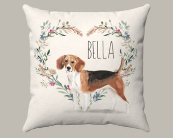 Happy Beagle Pillow Case | Dog couch