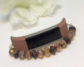 Alta Bracelet, Fitbit Exercise Tracker, Czech Glass Bracelet, Beaded Activity Tracker Bracelet, Fitbit Alta Bracelet