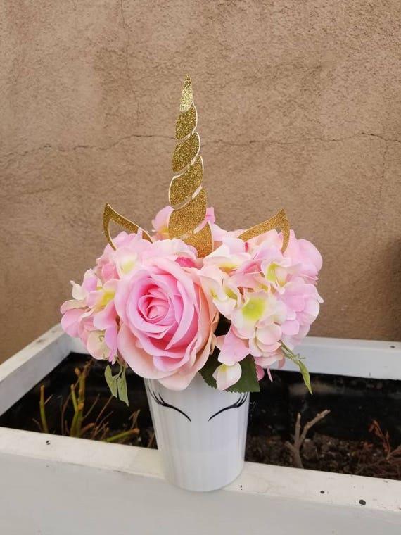 Unicorn centerpiece silk flower centerpiece etsy image 0 mightylinksfo