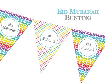 Eid Mubarak Bunting Eid Decorations Eid Cele Tions Eid Decor Party Muslim Festival