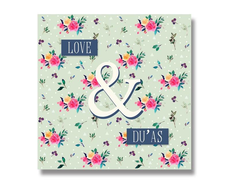 DU04 Love and Du/'as Islamic Greetings Card