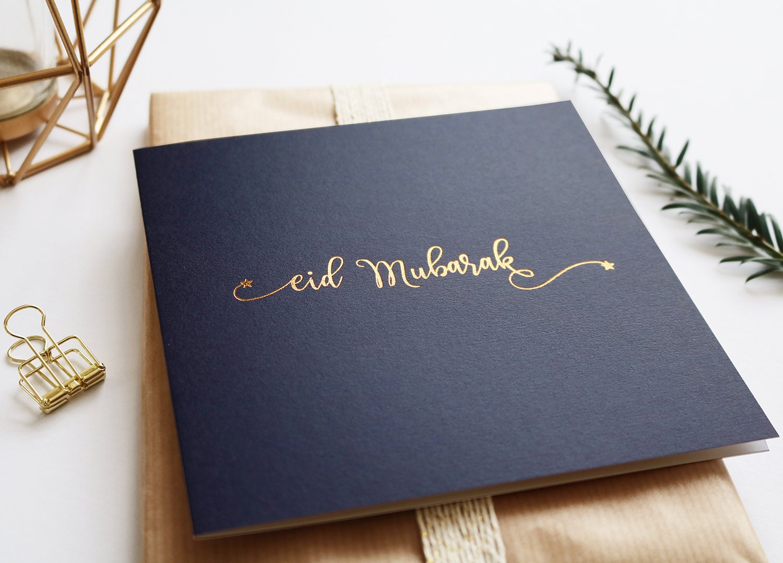 Luxurious Eid Greeting Card Islamic Cards Muslim Cards Eid Etsy