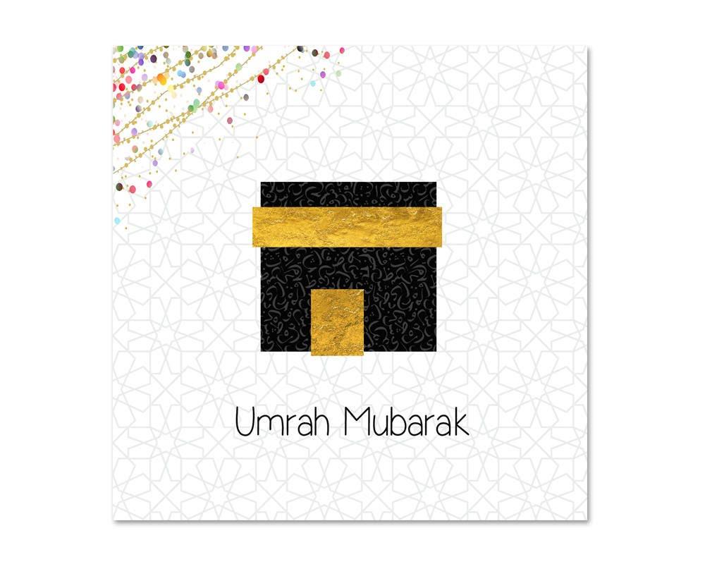 Umrah Mubarak Islamic Greeting Card Etsy