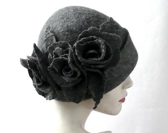 26d32bc4068 Gray felt hat
