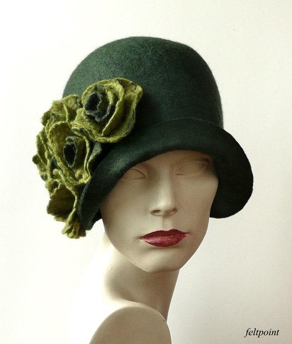 Verde cappello di feltro cappello in feltro cappelli di  16e4d5d42aa9