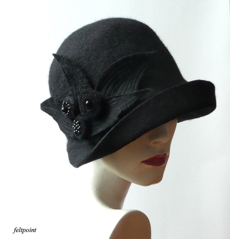 6e7bad960 Kapelusz modniarstwo kapelusz filcowy kapelusze z filcu | Etsy