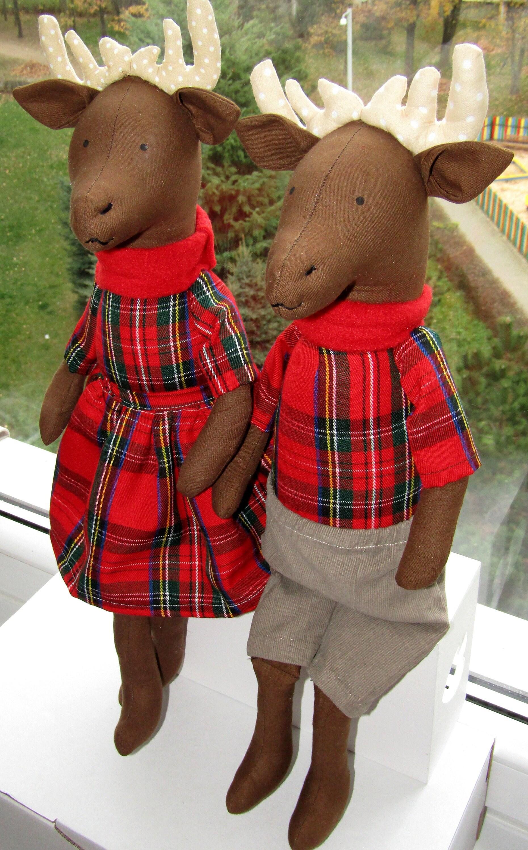 Christmas Deer Doll Stuffed Deer Soft Toy Moose Stuffed