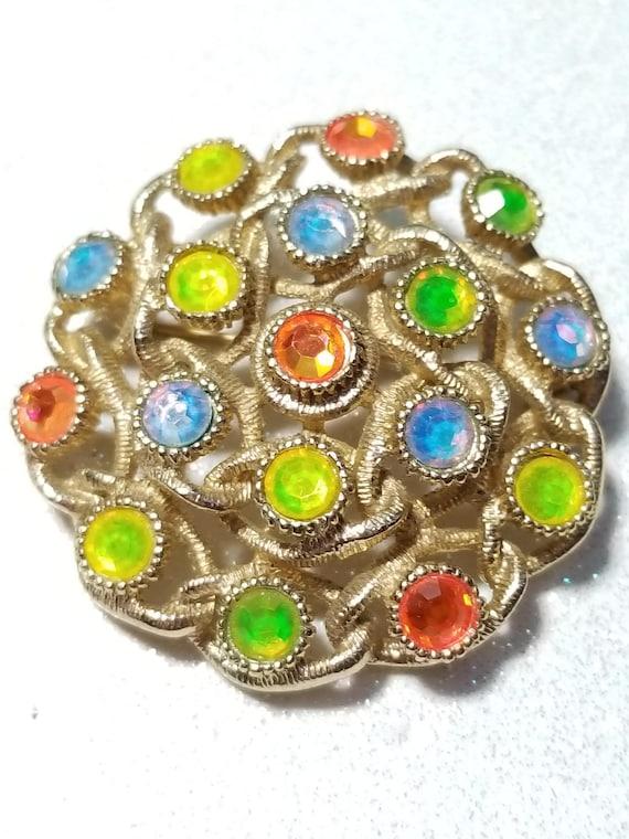 Vintage Brooch Lime /& Orange Magic Mushroom Pin 60/'s 70/'s Fashion Jewlery