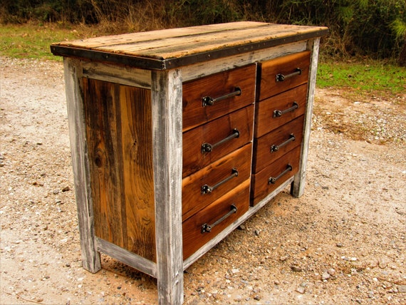 Farmhouse Night stand WITH BARN DOOR Distressed nightstand with X door and side