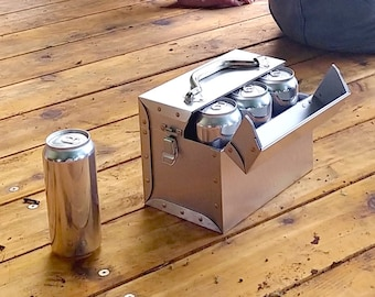 Metal Bento Lunch Box, Personalized Beer Caddy, Beer Flight Holder ideal for Airstream Lover Gift