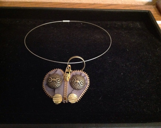 Necklace Choker Zipper Bronze color heart metal zipper jewelry steampunk zipper jewelry gold bronze color choker easy on choker