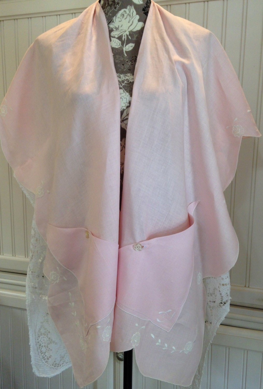 107fa6e9db Vintage up-cycled Linen   Lace Kimono
