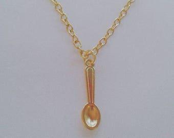 gold spoon necklace spoonie fibro lupus cfs