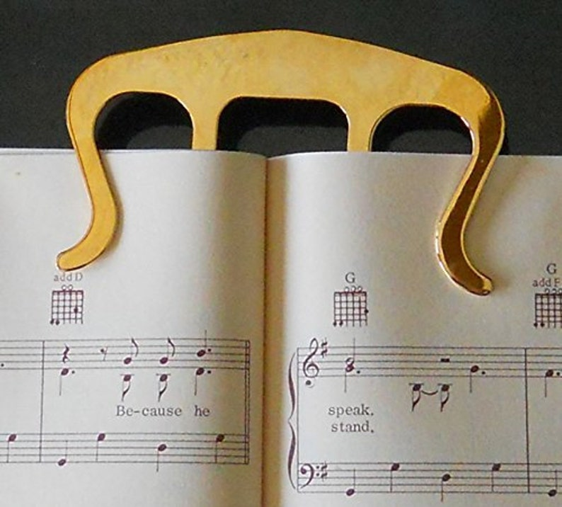 Music Page Holder Gold Page Clip image 0