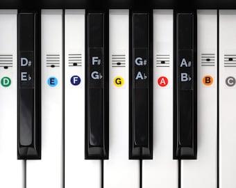 Color Piano Keyboard Sticker Set