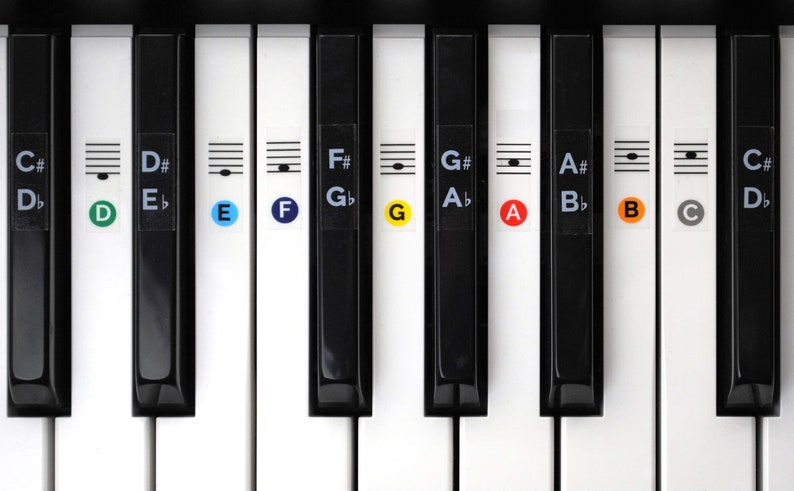 Color Piano Keyboard Sticker Set image 0