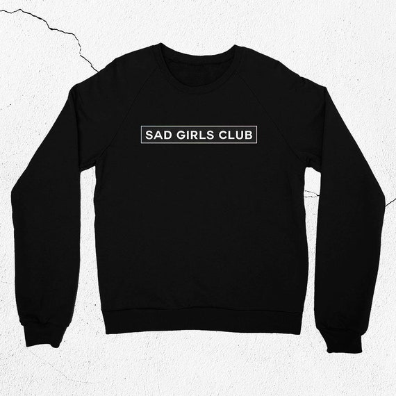 Sad Girls Club Sweatshirt Vaporwave Clothing Pastel Goth   Etsy 2d425cf940