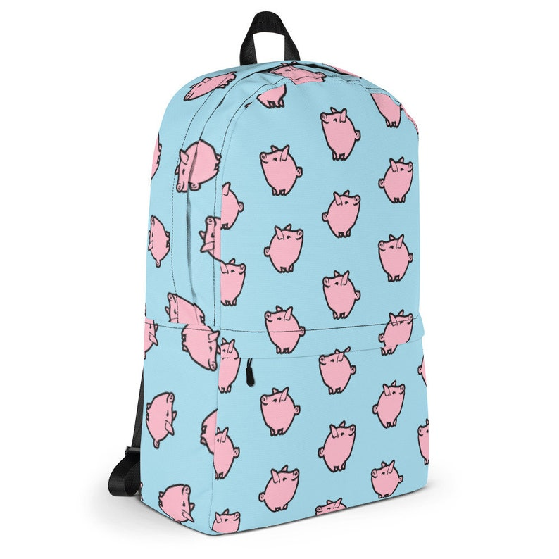 Pastel Pig Backpack Pastel Goth Aesthetic Soft Grunge Skater Bag Fairy Kei Schoolbag