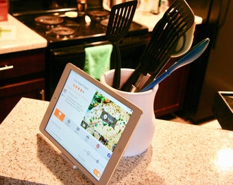 IPad Stand | Tablet Stand | Kitchen Utensil Holder | Gifts For Mom | Tablet  Stand | Kitchen Decor | Christmas Gift