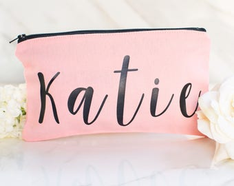 Gift for Bridesmaids - Bridal Party Gifts - Maid of Honor Gift - Custom Make Up Bag - Bridesmaid Makeup - Personalized Gift for Friend