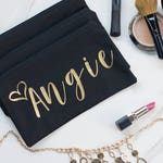 Bridal Party Make Up Bag - Set of Makeup Bags - Make Up Bags with Names - Bridesmaid Gift Set - Personalized Makeup Bag Set - Cosmetic Bags