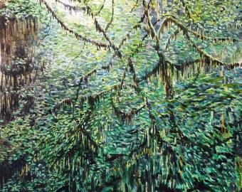 Hoh Rainforest - ORIGINAL WATERCOLOR Wall ART Print