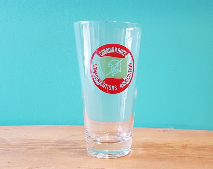 Tall Canadian Race Communications Association Glass
