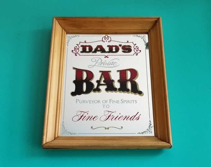 Dads Private Bar Decorative Mirror