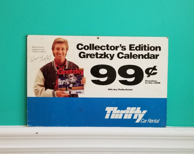 1993 Thrifty Car Rental Double Sided Hardboard Sign