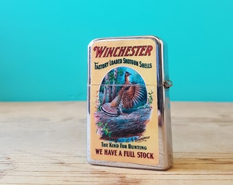 Working Lighter - With Winchester Advertising