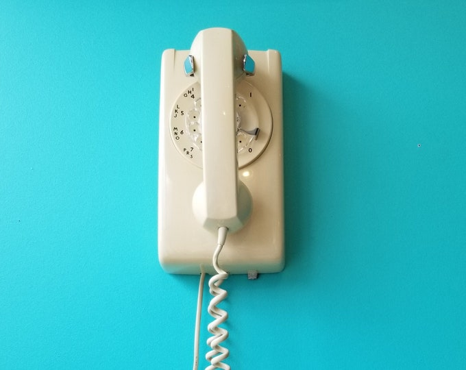 Beige Northern Electric Wall Phone Wired and Working