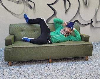 Funky Green/ Silver Kroehler Sofa