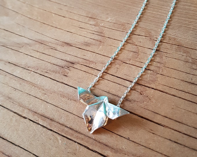 Fine Silver Origami Butterfly Necklace - Handmade in Toronto