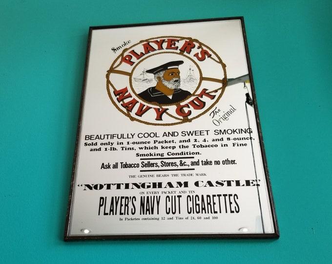 Vintage Player's Navy Cut Tobacco Mirror