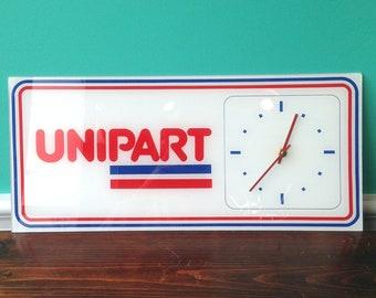 Unipart Plexiglass Wall Clock