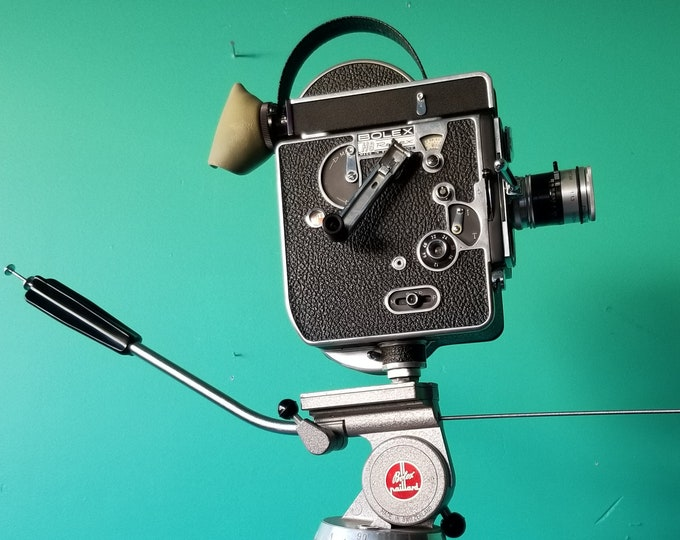 1962 Bolex H16 REX - 16mm Movie Camera With Tripod