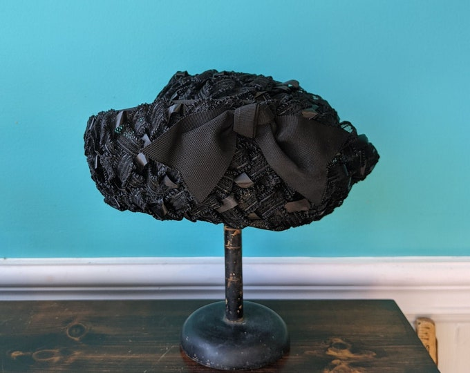 1950's Summer Mourning Hat