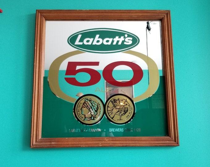 Labatt's 50 Ale Decorative Vintage Mirror