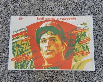 1986 Perestroika Era Propaganda Poster