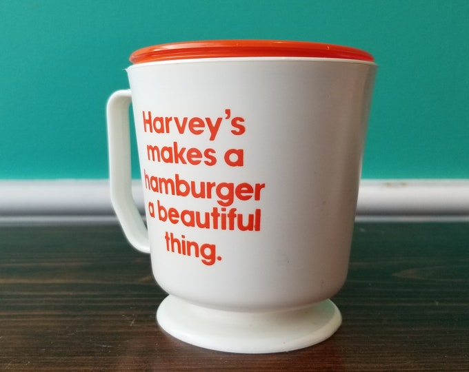Vintage Harvey's Restaurant Travel Mug Rare