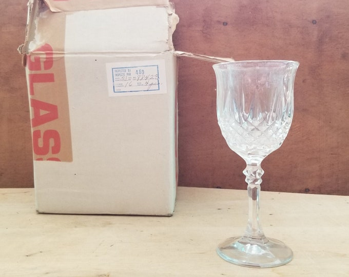 Set of 4 Kristal Zajecar Wine Glasses